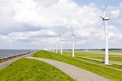 Windturbines in the Netherlands Royalty Free Stock Image