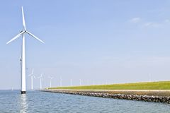Windturbines in the Netherlands Royalty Free Stock Photo