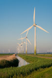 Windturbines in the Netherlands Royalty Free Stock Images