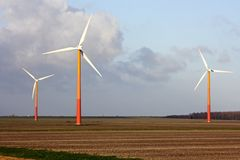 Windturbines in the Netherlands Stock Image
