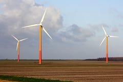 Windturbines in the Netherlands. Windturbines in the fields in the Netherlands Stock Image
