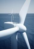 Windturbines no oceano Imagem de Stock Royalty Free
