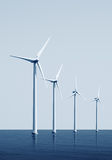 Windturbines on the ocean Royalty Free Stock Images
