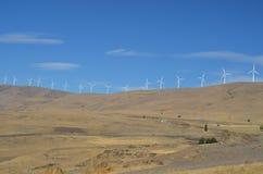 Windturbines op een woestijnrand, Washington State Royalty-vrije Stock Afbeeldingen