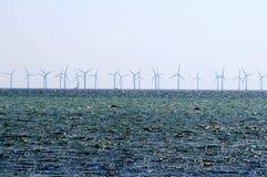 WINDturbines IN ORESUND-OCEAAN Royalty-vrije Stock Afbeelding