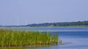Windturbnine park.GN Stock Foto