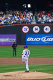 The Windup. Nelson Figueroa winds up for the pitch. The Mets beat the Astros 4-0 at Citifield Stock Image
