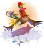 Windvane. A variable wind in the spring. Weather. vector. illustration Royalty Free Stock Images