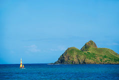 Windward coast of Oahu, Hawaii Vacation Royalty Free Stock Images