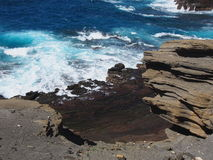 Windward Oahu Rugged Coastline Royalty Free Stock Photography