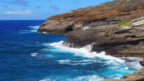 Windward Oahu Rugged Coastline Stock Photos