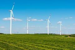 Windwheels в полях Стоковая Фотография RF