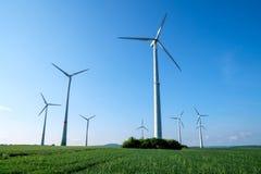 Windwheels на солнечный день Стоковые Фото
