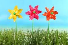 Windwielen voor kinderen Stock Foto's