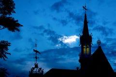 Windwijzer in de hemel over Valencia Stock Afbeeldingen
