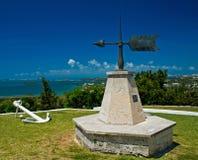 Windwijzer die de Oceaan overzien Stock Foto's