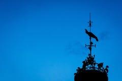 Windwijzer in hemel 2 Royalty-vrije Stock Foto's