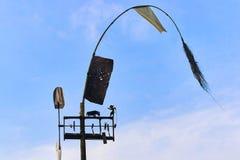 Windwijzer op de blauwe hemel Stock Afbeelding