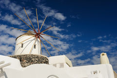 Windwill of Oia Santorini, Greece, copyspace. View of Oia windmill at the Island Santorini, Greece. Copyspace Royalty Free Stock Photography