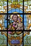 windwopane的布鲁塞尔-圣约瑟夫在教会Notre Dame辅助财宝Claires在Keer前1月van (1904) 库存照片