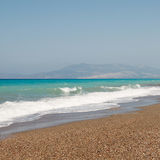 Windy Aegean coast Royalty Free Stock Image