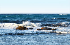 Windy Aegean sea at Naxos island Greece stock images