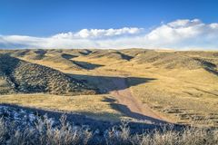 Windy afternoon at Soapstone Prairie Natural Area i Stock Image