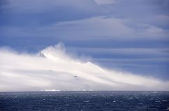 Windy Antarctic Sound. Antarctic Sound is at the northern tip of the Antarctic Peninsular and connects the Southern Ocean to the Wedell Sea. Even in the summer Stock Photos