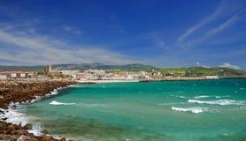 Windy bay of Tarifa, Spain Stock Photos