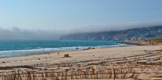 Windy beach. A beautiful windy beach in Portugal, a tourist destination for windsurfing and kitesurfing Stock Photography