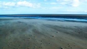 Windy beach. Beach on a windy day @ spurn head Stock Image
