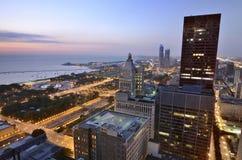Windy City des lumières images libres de droits
