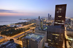 Windy City of Lights Royalty Free Stock Images
