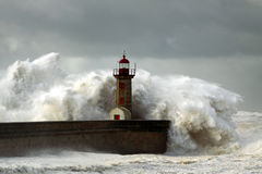 Windy Coast Royalty Free Stock Photography