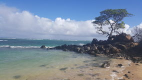 Windy cove. Beautiful waters on a beach on the north coast of maui Royalty Free Stock Photography