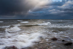 Windy day in Baltic sea. Royalty Free Stock Photo
