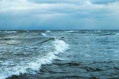 Windy day in Baltic sea. Stock Photos
