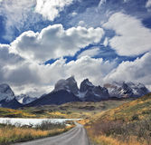 Windy day in the Chilean Patagonia Stock Photo