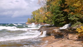 Windy Day at Elliot Falls Loop stock footage