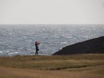 Windy day in Iceland. A windy day in Iceland, on the Snæfellsnes peninsula Stock Photo