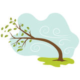 Windy Day Icon Stock Photography