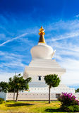 Windy Day At The Mountains. At Benalmadena, Spain The Buddhist temple at the mountains looked spectacular despite the wind royalty free stock photos