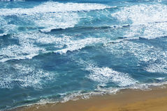 Windy Day over Ocean Beach Royalty Free Stock Photos