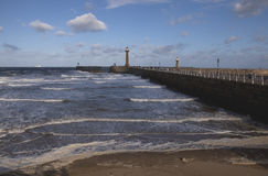 Windy Day in Whitby. Royalty Free Stock Photos
