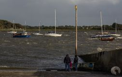 Windy Evening Walk, Oranmore, Irlande Photographie stock