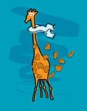 Windy giraffe Stock Photography
