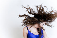 Windy hair Royalty Free Stock Photography