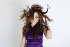 Windy hair Stock Photos