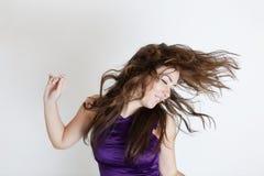 Windy hair Stock Photography