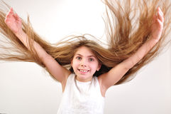 Windy hair Royalty Free Stock Photo